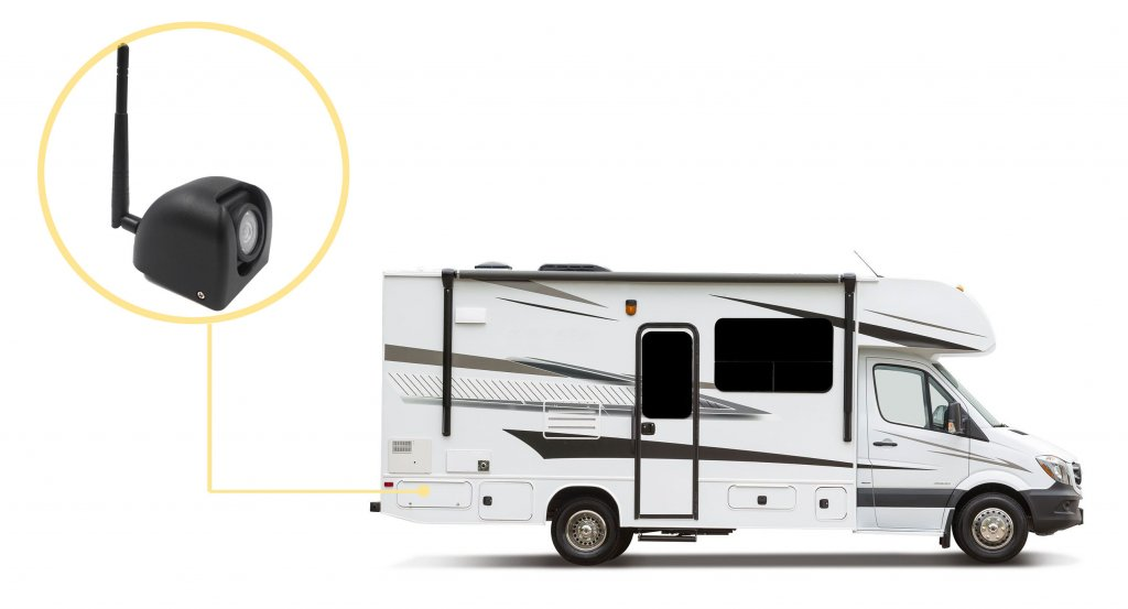 RV with side camera
