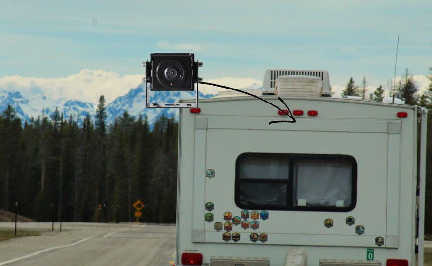 RV backup camera install location