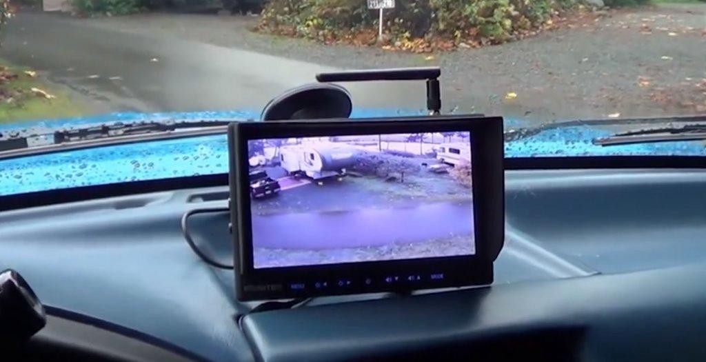 RV rear camera image