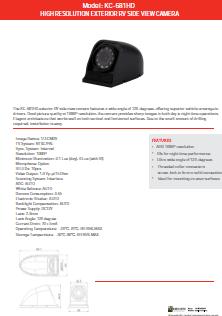 KC-681HD Specs Sheet