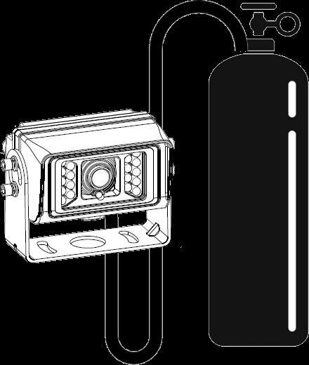 Nitrogen-pressurized rearview cameras