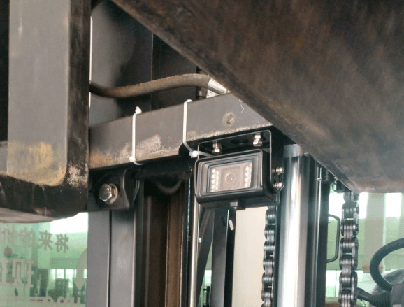 camera on forklift carriage