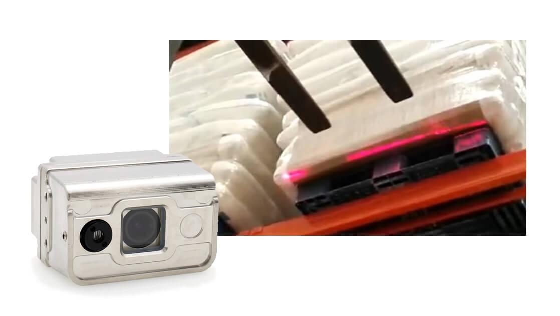 laser forklift camera