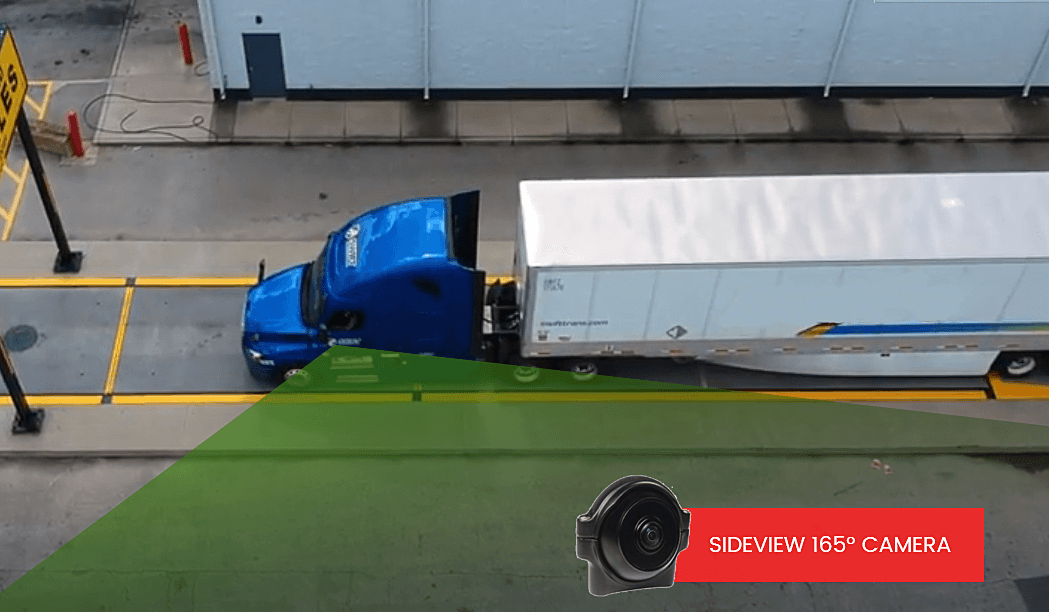 165º viewing angle side camera for truck