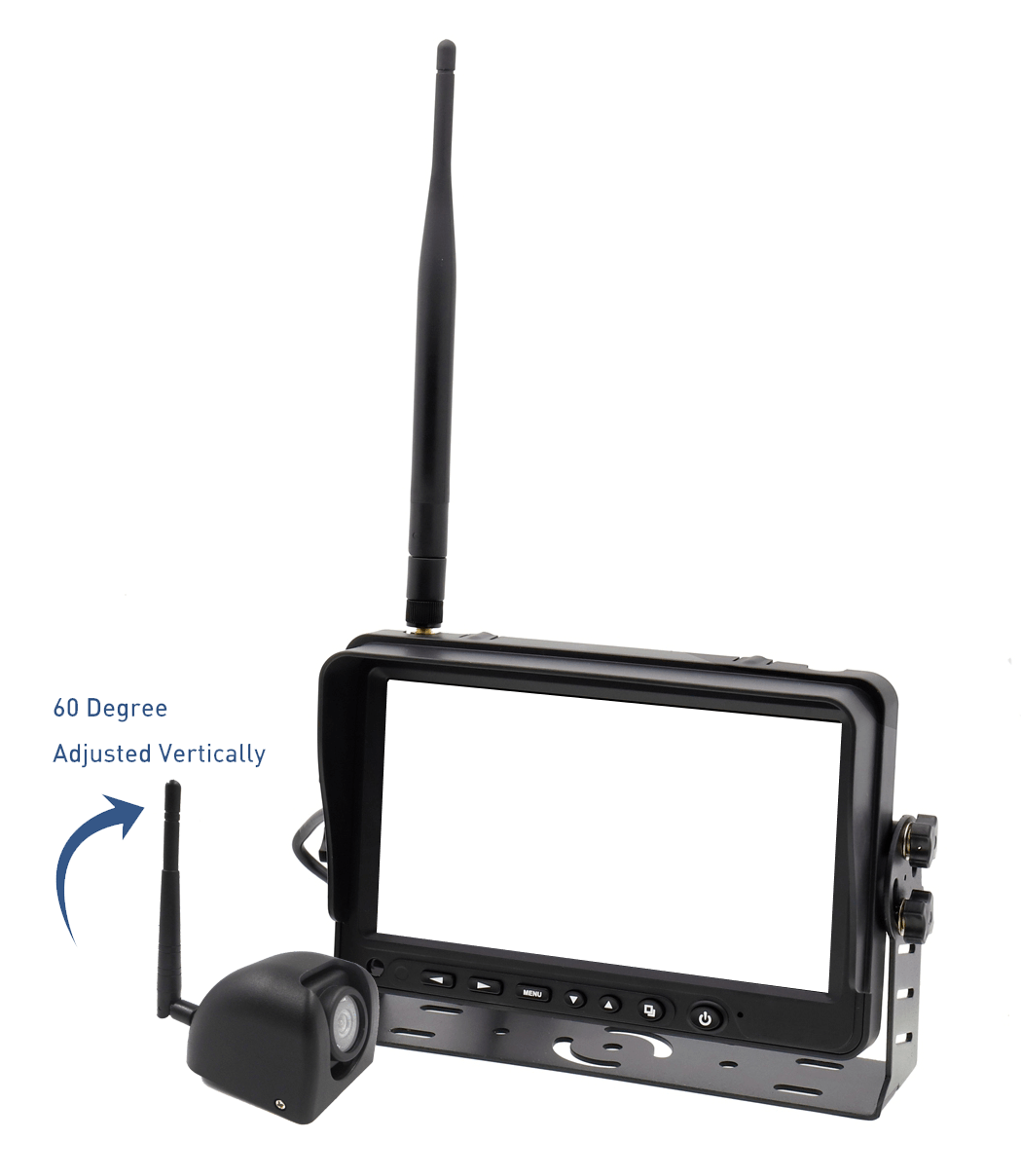 Side camera with monitor