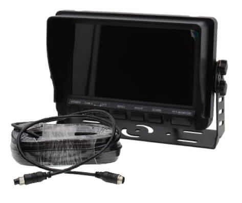 car monitor with cable