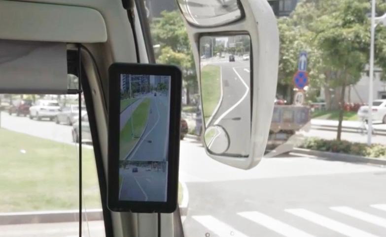 digital rearview mirror in bus