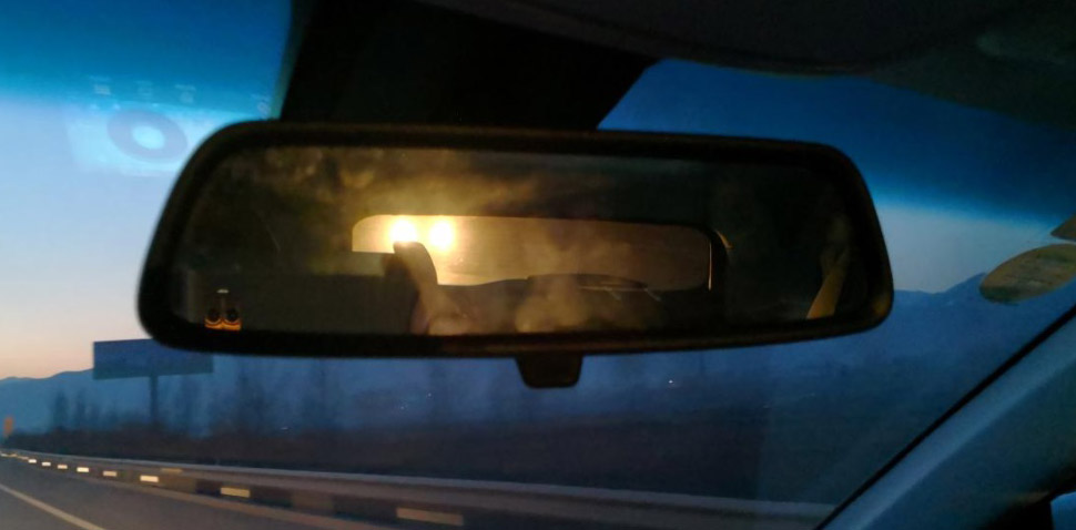 rear view mirror with glare
